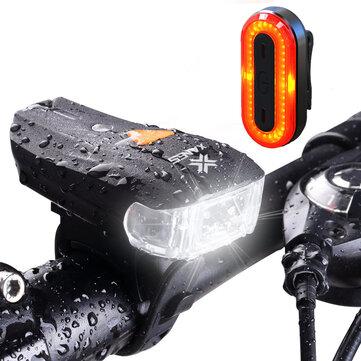 XANES SFL 01 600LM XPG 2 LED Bicycle Smart Sensor Bike Front Light STL03 100LM IPX8 Bicycle Tailli