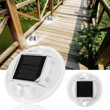 Solar Powered 10 LED Light Waterproof  IP68 Driveway Road Path Step Dock Outdoor Lamp