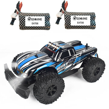 Eachine EAT08 RTR with 2 or 3 Battery 1 or 14 2.4G 2WD RC Car Front LED Light Off Road Vehicles Model Kids Children Toys