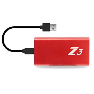 Kingspec Z3 Type C USB 3.1 External SSD Unità a stato solido Unità disco rigido 64/128 / 256GB Portatile