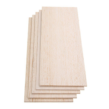 310x100mm 5Pcs Balsa Wood Sheet 7 Thickness Light Wooden Plate DIY Airplane Boat House Ship Model