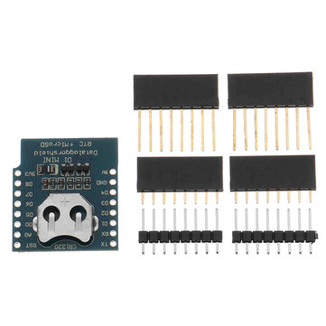 5Pcs Geekcreit DataLog Shield For D1 Mini RTC DS1307 Micro SD with Pin Headers