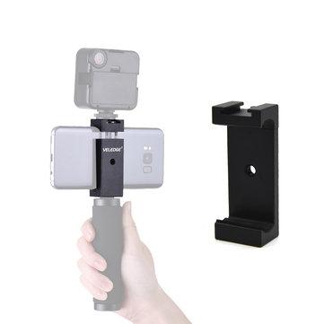 VELEDGE VD-30 Tripé Telefone Suporte Adaptador Suporte Clipe braçadeira com Sapata Fria para Smartphones