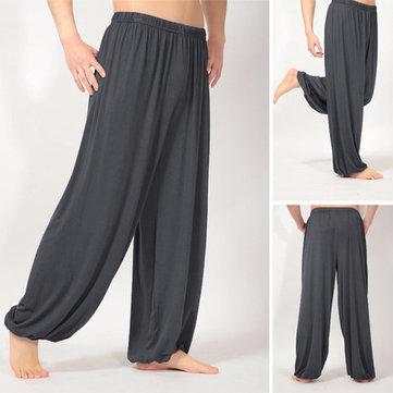 ढीले लोचदार कमर Yoga सुबह के अभ्यास के खेल पैंट हल्के वजन पुरुष महिला आकस्मिक ब्लूमर्स