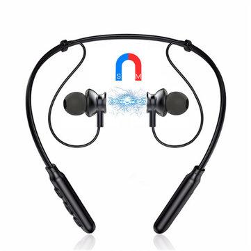 Binai B22S Wireless Bluetooth Auricolare Cuffie stereo con archetto da collo con microfono a cancellazione magnetica
