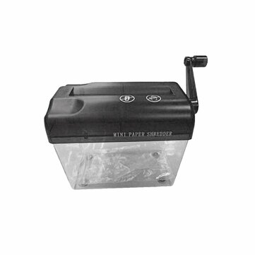 Schoffice Mini Desktop Strip-cut Paper Shredder for Office USB-charge Portable Paper Cutter for A6 with Letters Opener