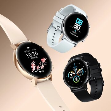 30 Days StandbyZeblaze GTR 1.3 Full Touch Curved Screen bluetooth 5.1 Heart Rate Blood Pressure Monitor Female Cycle Tracker Smart Watch