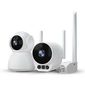Προσφορά / Κουπόνι για το προϊόν: Xiaovv V380 Pro 1V2 CVR Independent Network Camera Suite 1080P HD 360° Horizontal Rotation Camera Dual Antenna WiFi Ad Hoc Wireless Suite for House Indoor Outdoor Safety Monitoring με τιμή 67.64€