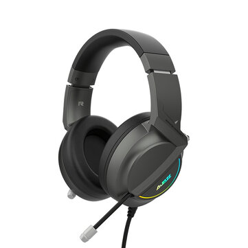 AJAZZ AX365 Game Headphone USB Wired 7.1 Channel 360 Surounding Sound Bass Gaming Headset with Mic for Computer PC Gamer