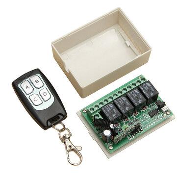 Geekcreit® 12V 4CH Channel 433Mhz Wireless Remote Control Switch Transceiver Receiver Module