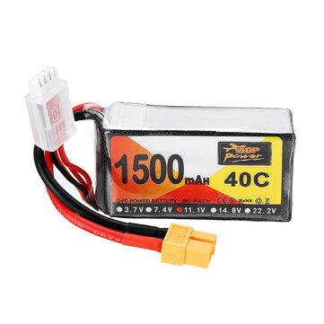 ZOP Power 11.1V 1500mAh 40C 3S Lipo Battery XT60 Plug for Eachine Wizard X220 FPV Racing RC Drone