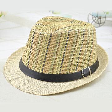 Đàn ông và phụ nữ Màu sắc dọc thoáng khí Mũ rơm Du lịch ngoài trời Kem chống nắng Bãi biển