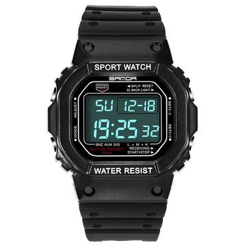 SANDA 329 Mode LED Display Men Perhiasan Waterproof Sport Digital Watch