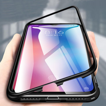 Bakeey 360° Magnetic Adsorption Metal Tempered Glass Flip Protective Case for Xiaomi Mi 9 / Xiaomi Mi9 Transparent Edition