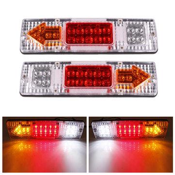 2 Pcs 12V 19 LED Mobil Truk Trailer Tear Tail Lampu Indikator Lampu Berhenti