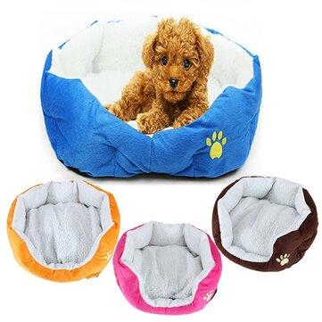 Cojín pequeño tamaño de lana suaves esteras gato perro caliente cama