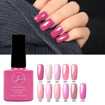 11 रंग राजकुमारी गुलाबी नाखून जेल पोलिश सोख बंद UV जेल Colorful वार्निश DIY कील कला लंबे समय तक चलने वाला कला