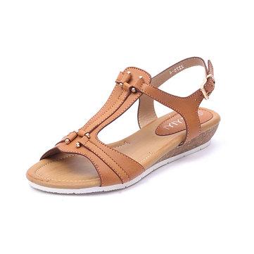 Roman Sandals Women Comfortable T Strap Summer Casual Beach Shoes