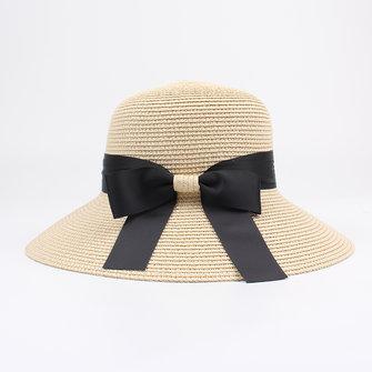 Phụ nữ mùa hè có thể gập lại du lịch bãi biển Ngư dân Mũ chống nắng ngoài trời Mũ rơm