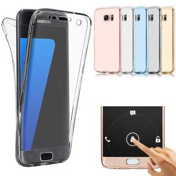 Ốp lưng màn hình cảm ứng toàn thân 360 độ cho Samsung Galaxy A3/A5/A7 Phiên bản EU 2017