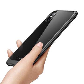 Bakeey Clear Transparent Scratch Resistant Organisk Glass Veske Til iPhone X