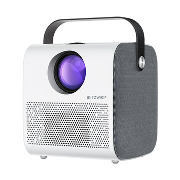 BlitzWolf BW-VP5 Portable LCD Projector 3800 Lumens 1280*720P HD Multimedia bluetooth V4.0 Projector with 3W*2 Speakers Home Theater Projector