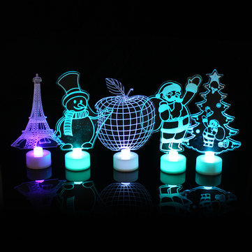 $0.99 for Santa Claus Multi Color LED Light Clear Acrylic Christmas Tree Mood Lamp Christmas Decoration Toys