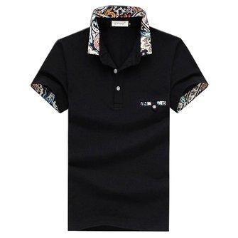 पुरुषों आरामदायक कपास खेल गोल्फ शर्ट ग्रीष्मकालीन ठोस रंग लैपल लघु आस्तीन शीर्ष