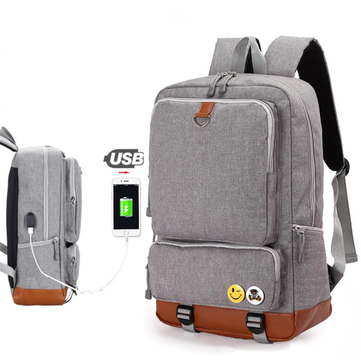 Backpack USB Charging Backpacks Men Woman Shoulder Bag Laptop Bag Casual Travel Backpack College Bag For 15-inch Laptop