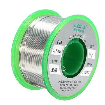 ELECALL 0.5mm 75g Rosin Core Tin Lead Free Rosin Roll Flux Reel Melt Core Welding Solder Wire