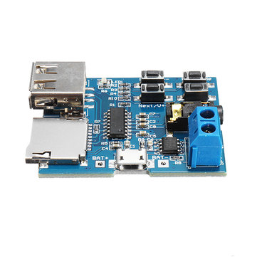 5Pcs MP3 Lossless Decoder Board With Power Amplifier Module TF Card Decoding Player