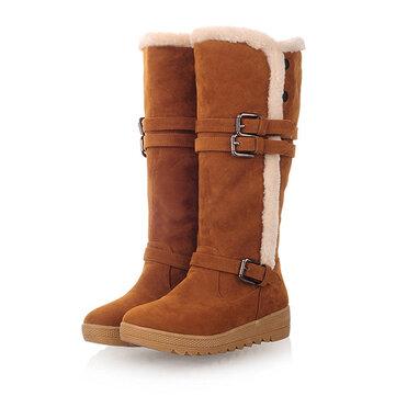 """ארה""""ב גודל 5-12 נשים פרווה חורף בטנה לשמור על חם עגל באמצע מגפיים שלג"""