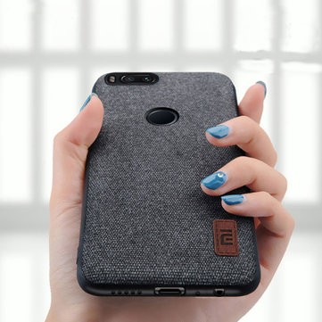 Bakeey Fabric Splice Soft Silicone Edge Shockproof Protective Case For Xiaomi Mi 5X / Xiaomi Mi A1