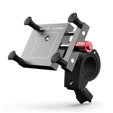 4-6.5inch 360° Bike Motorcycle 2in1 Rearview Mirror/Handlebar Mount Mobile Phone Holder