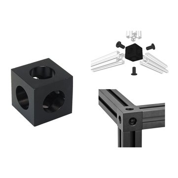 V-slot Cube Corner Prism Connector Adjustable Wheel Bracket For 3D Printer CNC Part