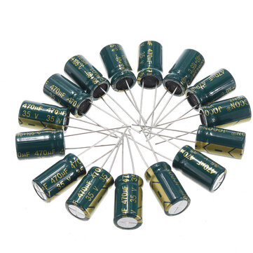 150Pcs 35V 470UF 10 x16MM High Frequency Low ESR Radial Electrolytic Capacitor