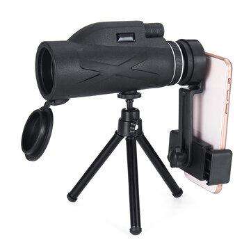 80×100倍率ポータブル単眼望遠鏡強力な双眼鏡ズームグレートハンドヘルド望遠鏡軍事HDプロフェッショナル狩猟