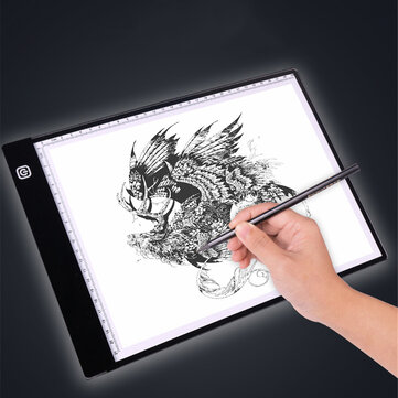 A3_A4 Drawing Tablet with Scale USB Powered Three Gear Dimming  Stepless Dimming Art Stencil Portable LED Drawing Board