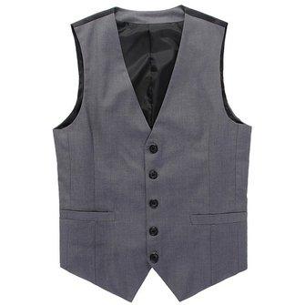 पुरुषों ने ग्रे वेस्ट नर स्लिम फिट बिजनेस अवकाश सूट वाइस्टकोट बनाया है