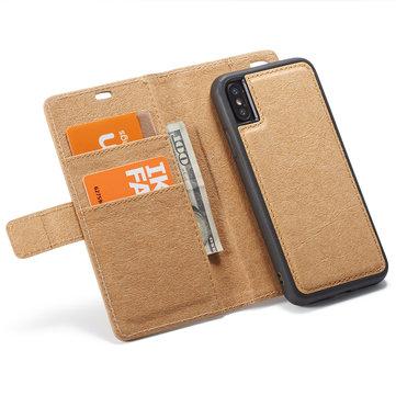 WHATIF beskyttelsesveske til iPhone XS Max Vanntett Kraft Papirmagnetisk Avtakbar Lommebok