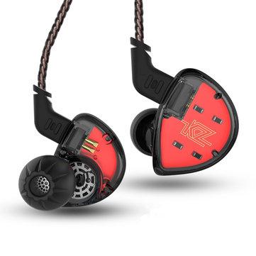 KZ ES4 HiFi Balanced Armature Dynamic Driver Hybrid Earphone Noise Cancelling Heavy Bass Headphone