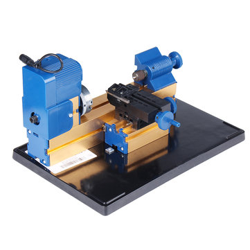 12V DC 2A 24W Multi-purpose Mini Wood Lathe Aluminium Lathe Machine