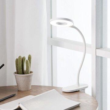 Yeelight 5W LED USB Genopladeligt Clip Desk Bordlampe Øjenbeskyttelse Touch Dimmer 3 Mode Reading Lampe (Xiaomi Ecosystem Product)