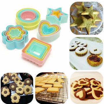 Plástico cortador de galletas para hornear galletas pastel de pasta de azúcar del molde del sugarcraft de la decoración DIY
