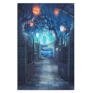 5x7ft Halloween Deep Banked Path Vinyl Backdrop Photography Prop Studio Photo Background