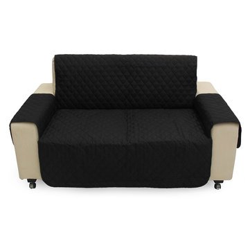 2 Seater Black Pet Sofa Couch Protective Cover Pad Removable Strap Waterproof Cat Dog Pads