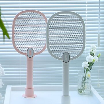 3life电动蚊拍苍蝇拍驱蚊器可充电LED电动昆虫飞蚊虫虫虫架3层网