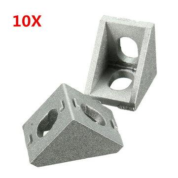 Suleve ™ AJ20 Aluminium vinkelhjørne felles 20x20mm høyre vinkelbrakettmøbler 10 stk