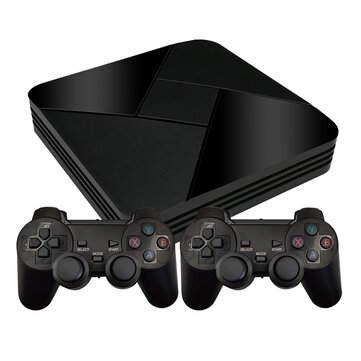Powkiddy B 01 64GB 128GB 40000 Games Retro TV Games Console 2.4G Wifi Android 7.1 TV Box for PS1 N64 ATARI MD FC Classic Games Player support Download Games GameBox