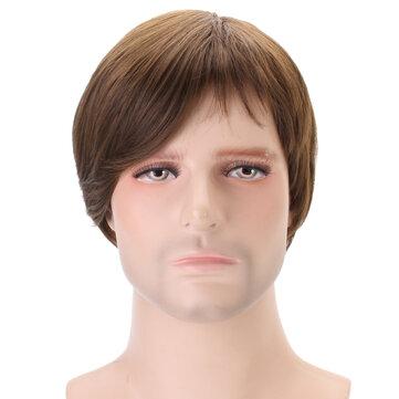 Claybank Men Short Straight Hair Natural Looking WigHair & AccessoriesfromHealth & Beautyon banggood.com